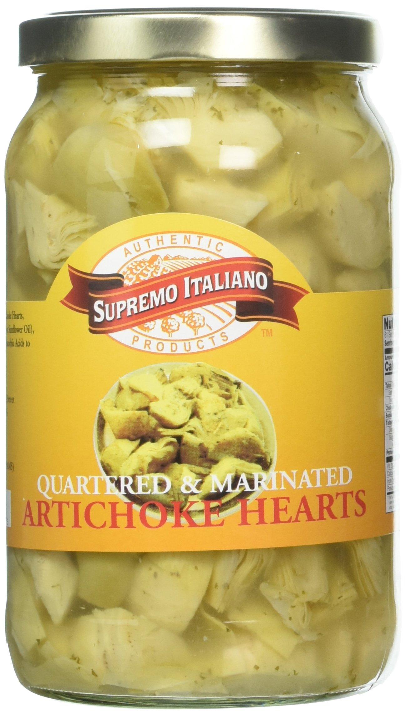 Supremo Italiano Artichoke Hearts Quartered, 105 Ounce