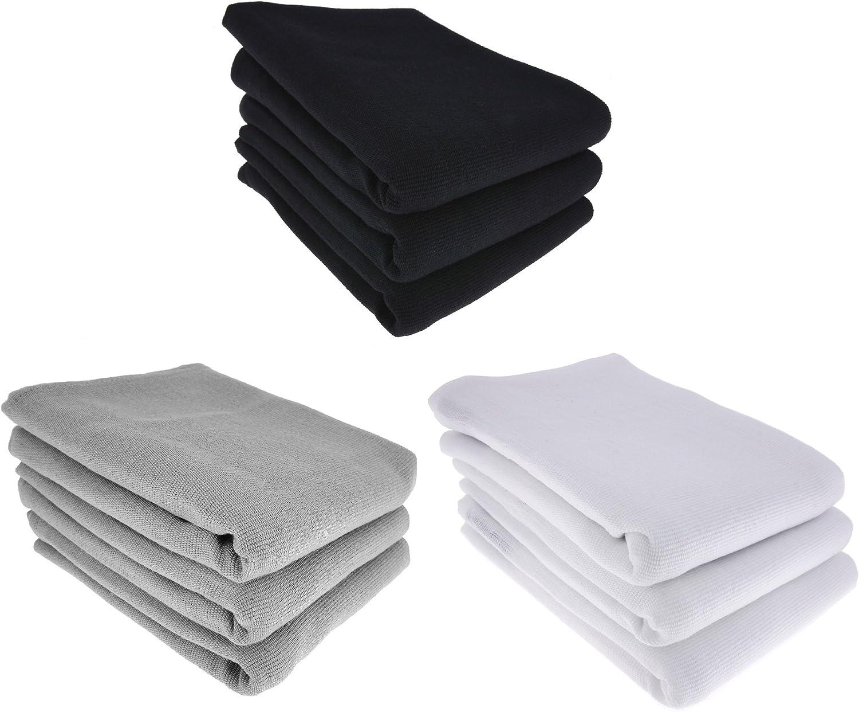 Daloual 9X Paño de cocina, 100 % algodón, 3X negro, 3X gris 3X ...