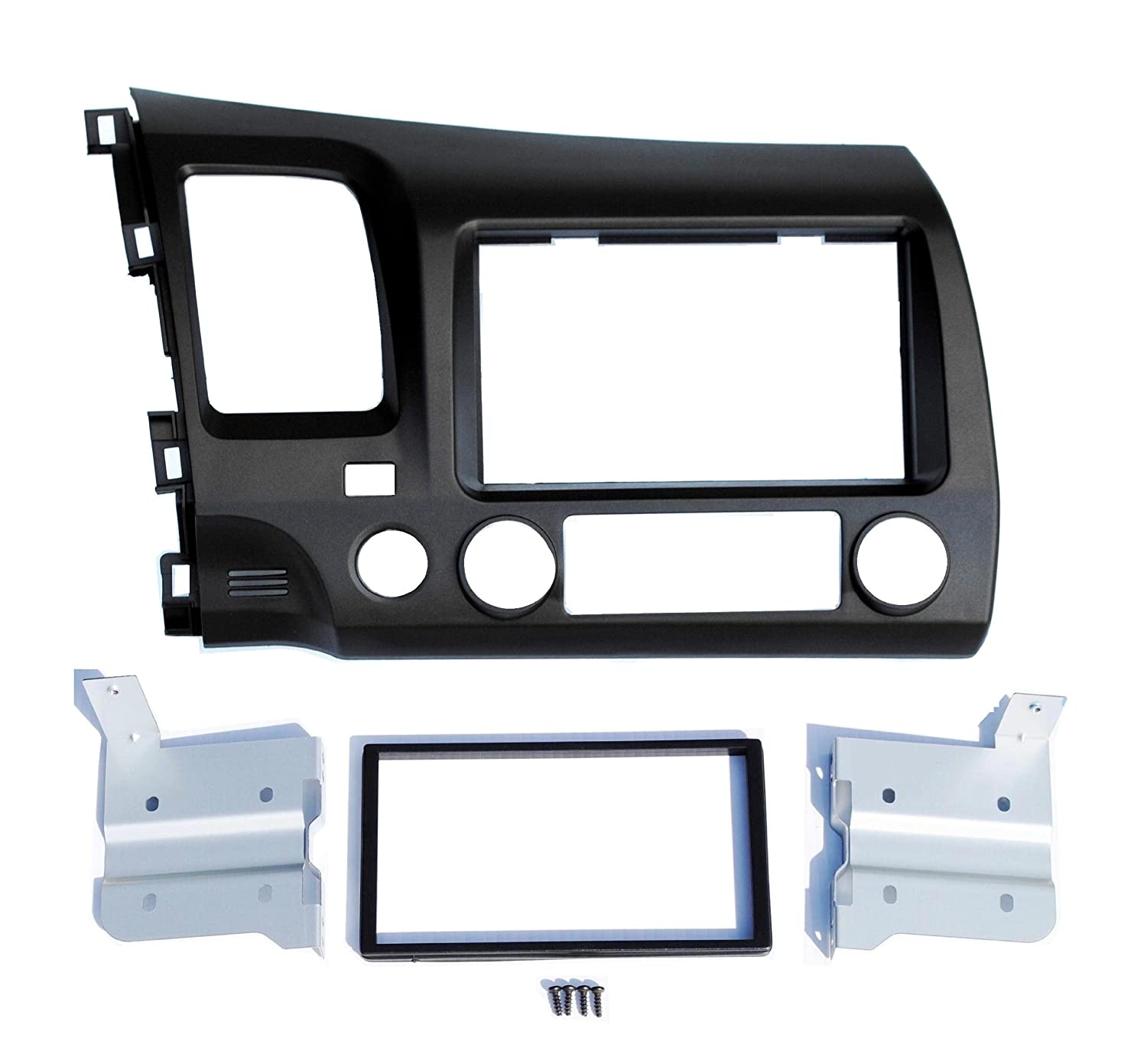 Earth Taupe Blue Aftermarket Double Din Installation Dash Kit Fits Honda Civic 2008-2011 Custom Install Parts