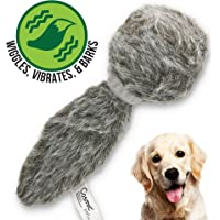 Hyper Pet Doggie Tail Interactive Dog Toys - Wiggles, Vibrates, and Barks (Plush Dog Toys for…