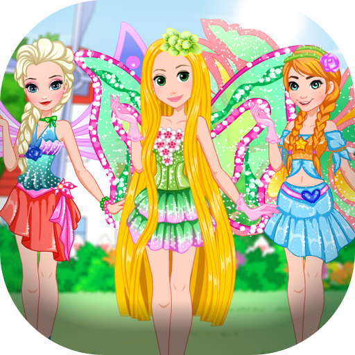 Dress up princess visiting -
