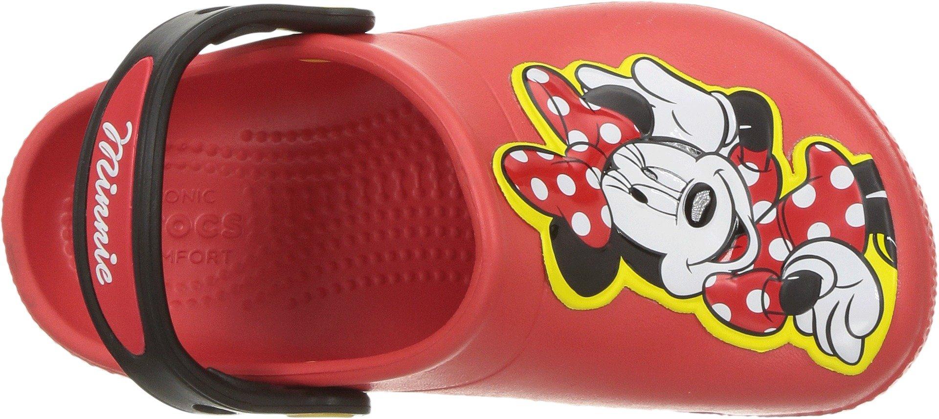 Crocs Girls' Fun Lab Minnie Clog, Flame, 8 M US Toddler by Crocs (Image #2)