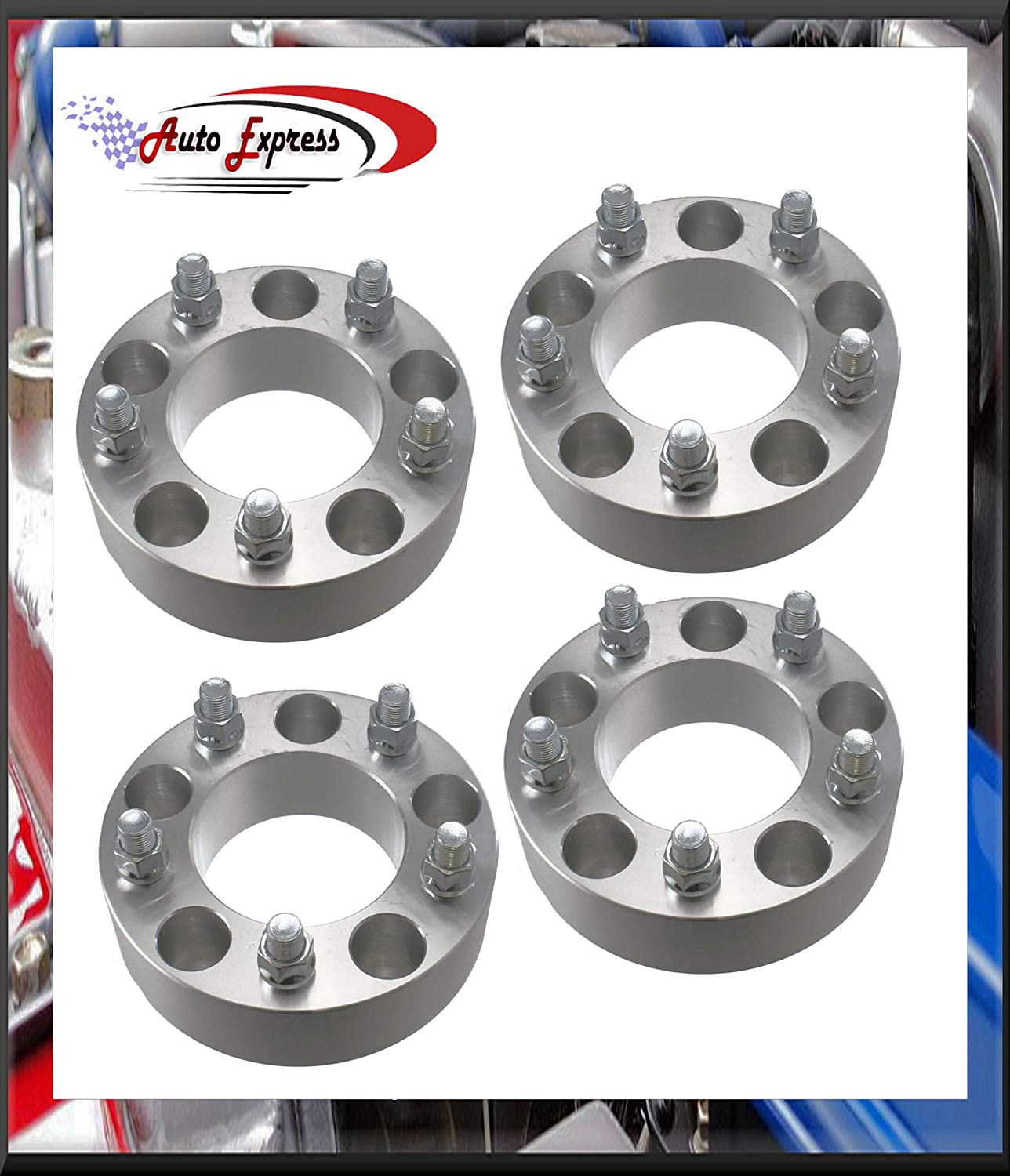4 Pc 5x135 MM To 6x135 MM 5 To 6 Lug Wheel Spacers Adapters Conversion Bolt On 2 Thick 5 Lug Wheels on 6 Lug Trucks 6x135 Wheels On 5x135 Trucks Heavy Duty 2 Piece Adapters Fits Ford trucks.