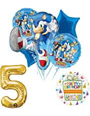 Sonic The Hedgehog 5th Birthday Party Supplies and Balloon Decorations