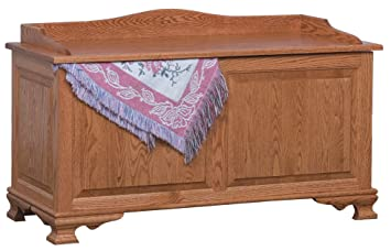 Amish Heirlooms Solid Oak Classic Heritage Blanket Chest Raised Panels,  20u0026quot; X 48u0026quot