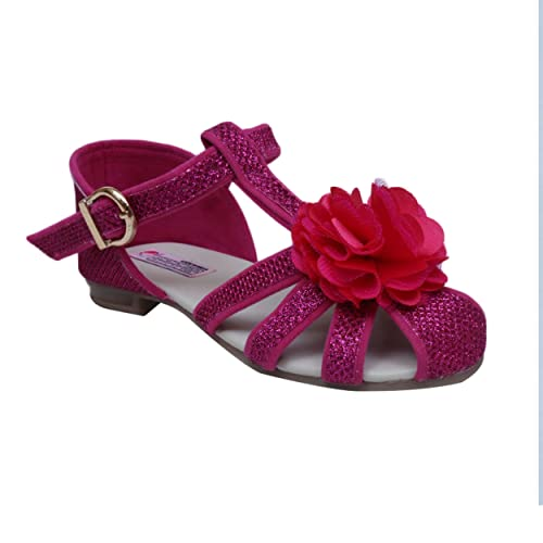 f3eb442cc616 D chica Fancy Synthetic Fabric All for Fuchsia Sandals for Girls - (Size