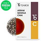 Teabox Assam Masala Chai Spiced Tea 3.5Oz (50 Cups) | Fresh Loose Leaf with 100% Natural Ingredients & Spices:Cinnamon, Cardamom, Black Pepper, Clove, Ginger | Delivered Garden Fresh Direct from India