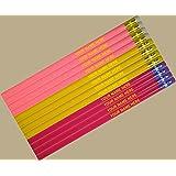 ezpencils - Personalized Subtle Colors Round Pencils - 12 pkg - ** FREE PERZONALIZATION **