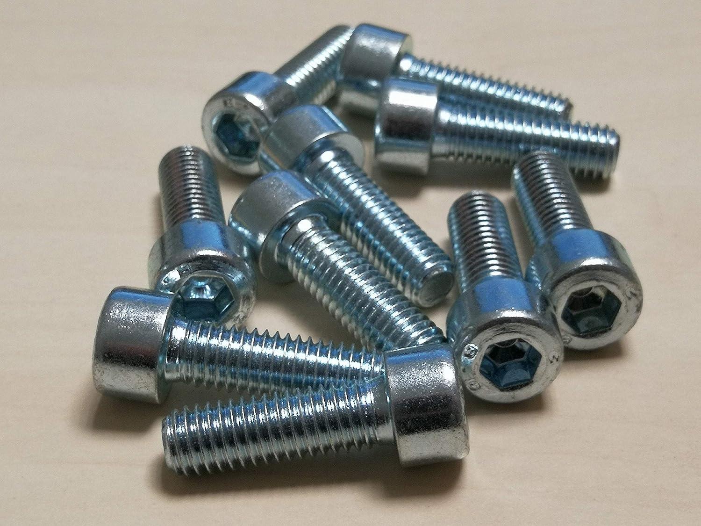 Acier galvanis/é, M10*30mm DIN 912 10 pi/èces acier galvanis/é Vis /à six pans creux