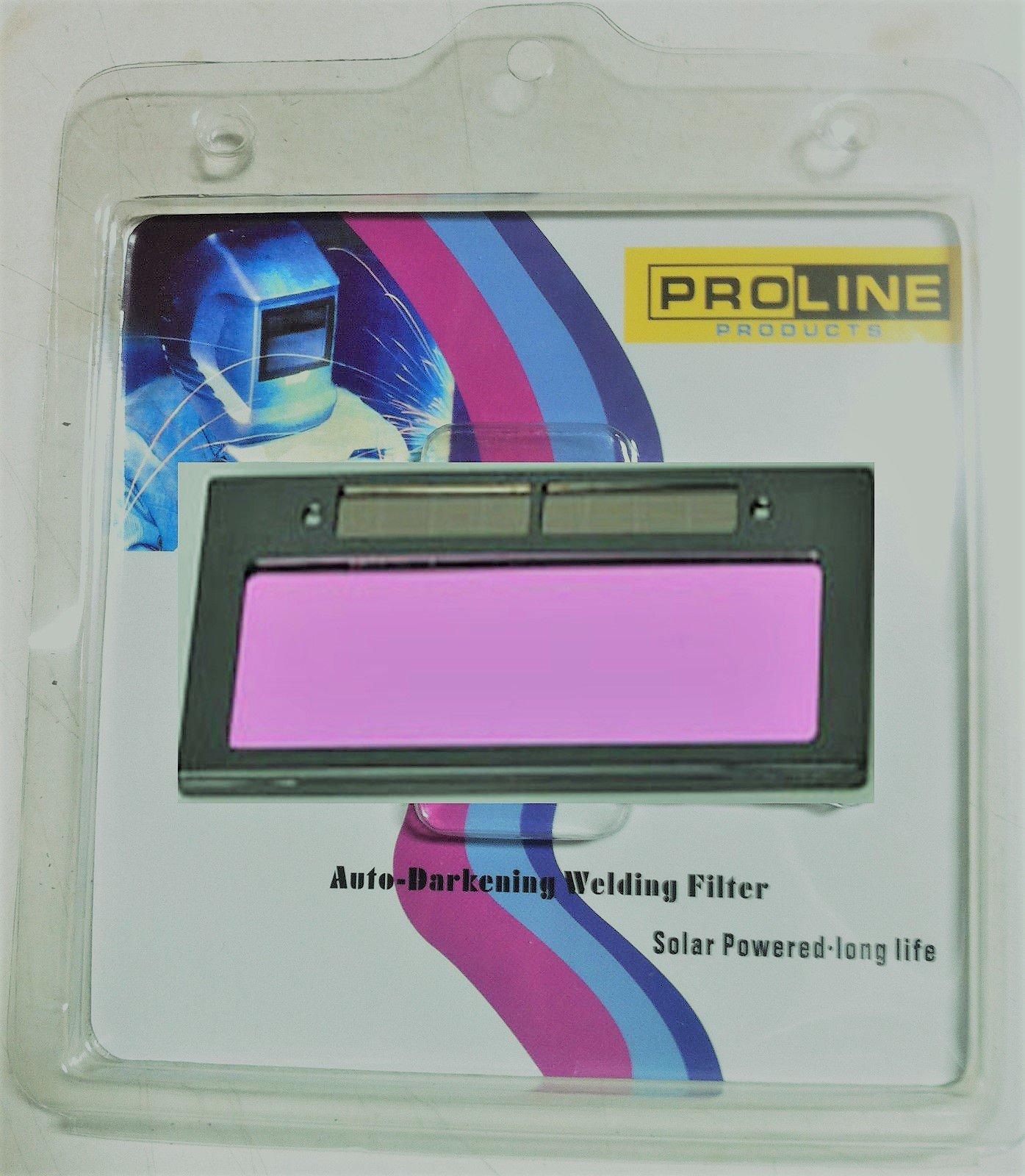 Proline Products DIN#9 Size 4-1/4'' X 2'' Auto Darkening Welding Lens Filter Dark DIN #9, Clear #3