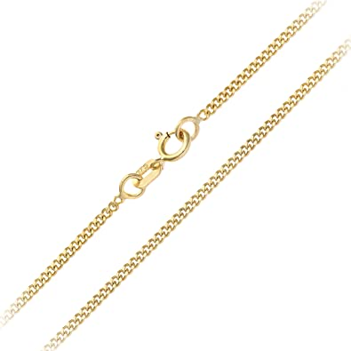 CJoL - Solid 9ct Yellow Gold 0.7mm Wide Box Chain In Gift Box (available in 16