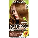 Garnier Nutrisse Ultra Color Nourishing Permanent Hair Color Cream, B3 Golden Brown (1 Kit) Brown Hair Dye (Packaging…
