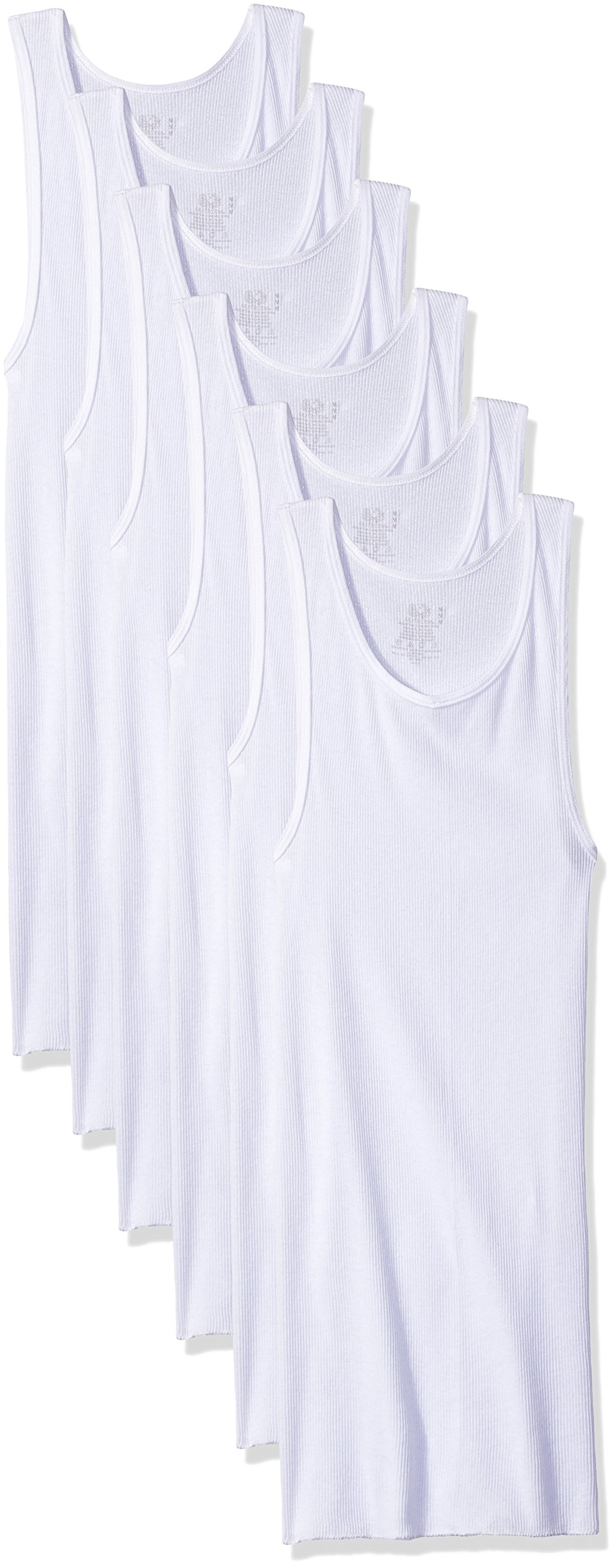Fruit of the Loom Men's A-Shirt, White, Large(Pack of 6) by Fruit of the Loom