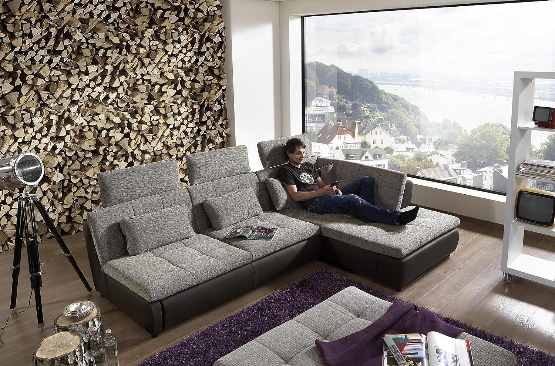 Loungesofa Wohnlandschaft Sofa Couch Ecksofa Eckcouch Plansofa Free