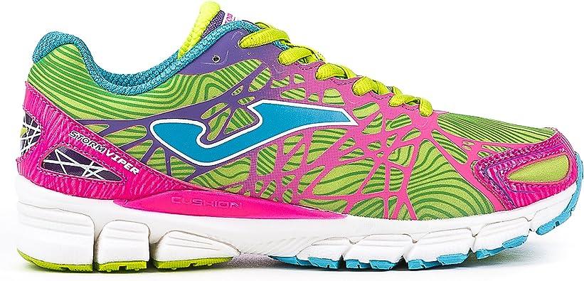 Joma R.Storm Viper Lady 611 Fluor-Rosa. - Zapatillas para Correr para Mujer, Color Fluor, Talla 41: Amazon.es: Zapatos y complementos