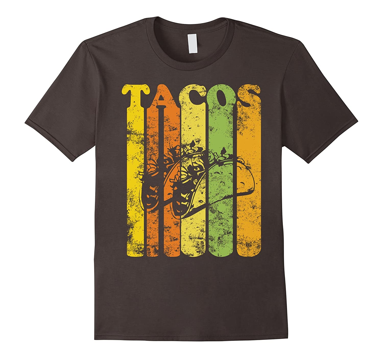 Vintage Style Funny Tacos T Shirt Distressed Retro Style