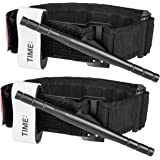 Amagoing Tactical Emergency Tourniquet Outdoors Spinning Military Tourniquet One-handed Tourniquet Medical First Aid Equipment, Black, Set of 2