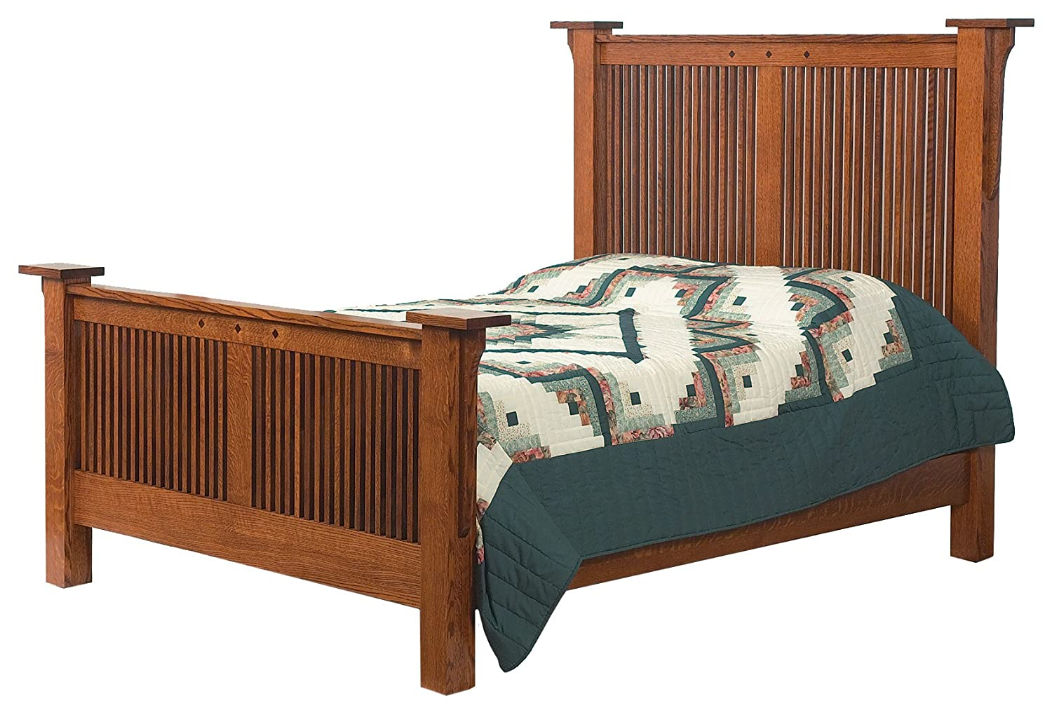 Craftsman Arts Craft Mission Bed Frame Set