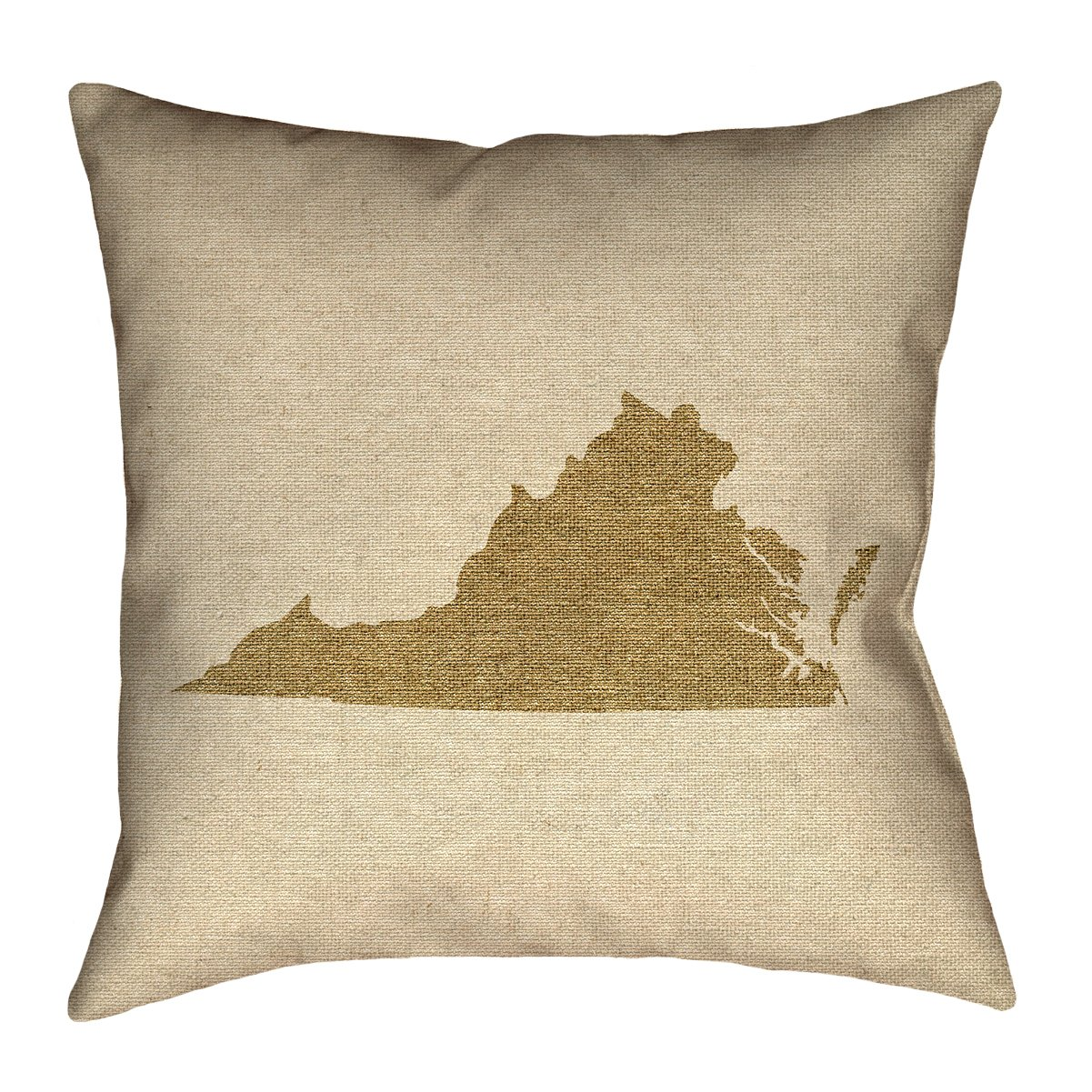 ArtVerse Katelyn Smith 18 x 18 Poly Twill Double Sided Print with Concealed Zipper /& Insert Virginia Canvas Pillow