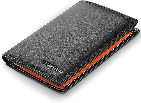 TEEHON® Portemonnees Rfid Blokkering Van Echt Leer Met 12