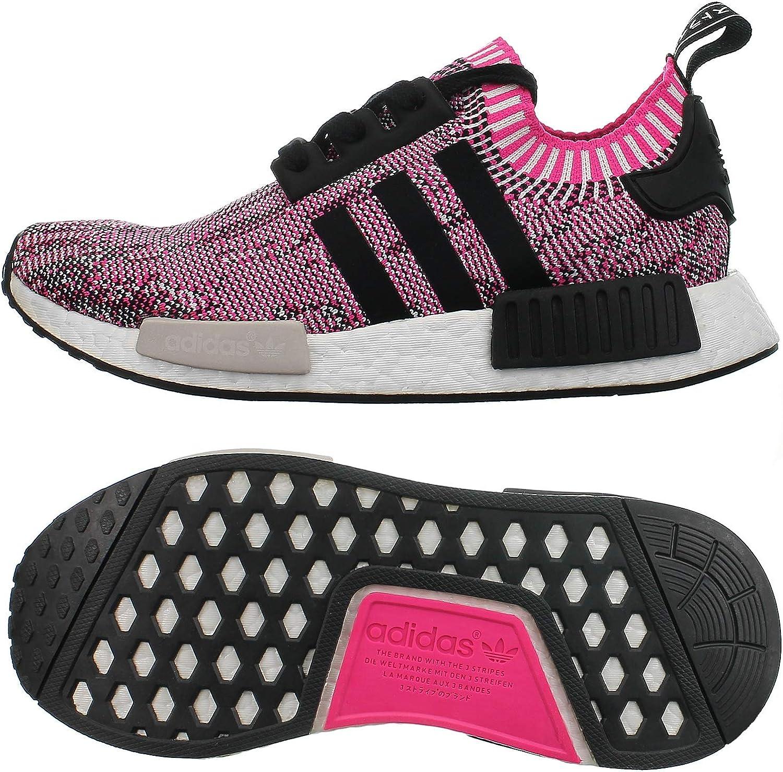 Amazon Com Adidas Nmd R1 Primeknit Women Shock Pink Bb2363 Color Black White Pink Size 6 0 Fashion Sneakers