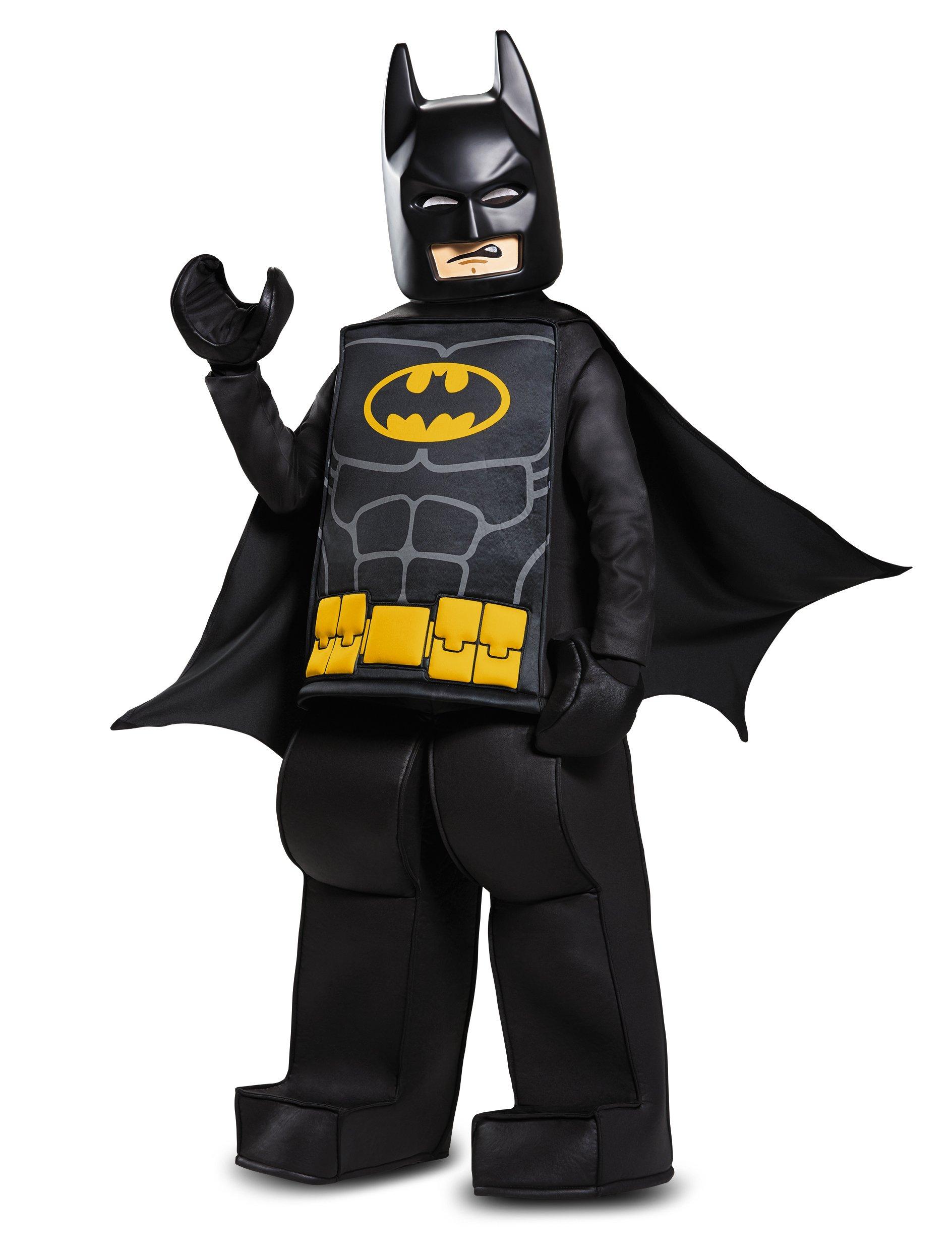 Batman LEGO Movie Prestige Costume, Black, Large (10-12)