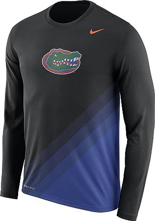 Nike Camiseta de fútbol de Florida Gators Negro/Azul diseño Dri-fit Camiseta de Manga Larga, XXL, Negro/Azul: Amazon.es: Deportes y aire libre