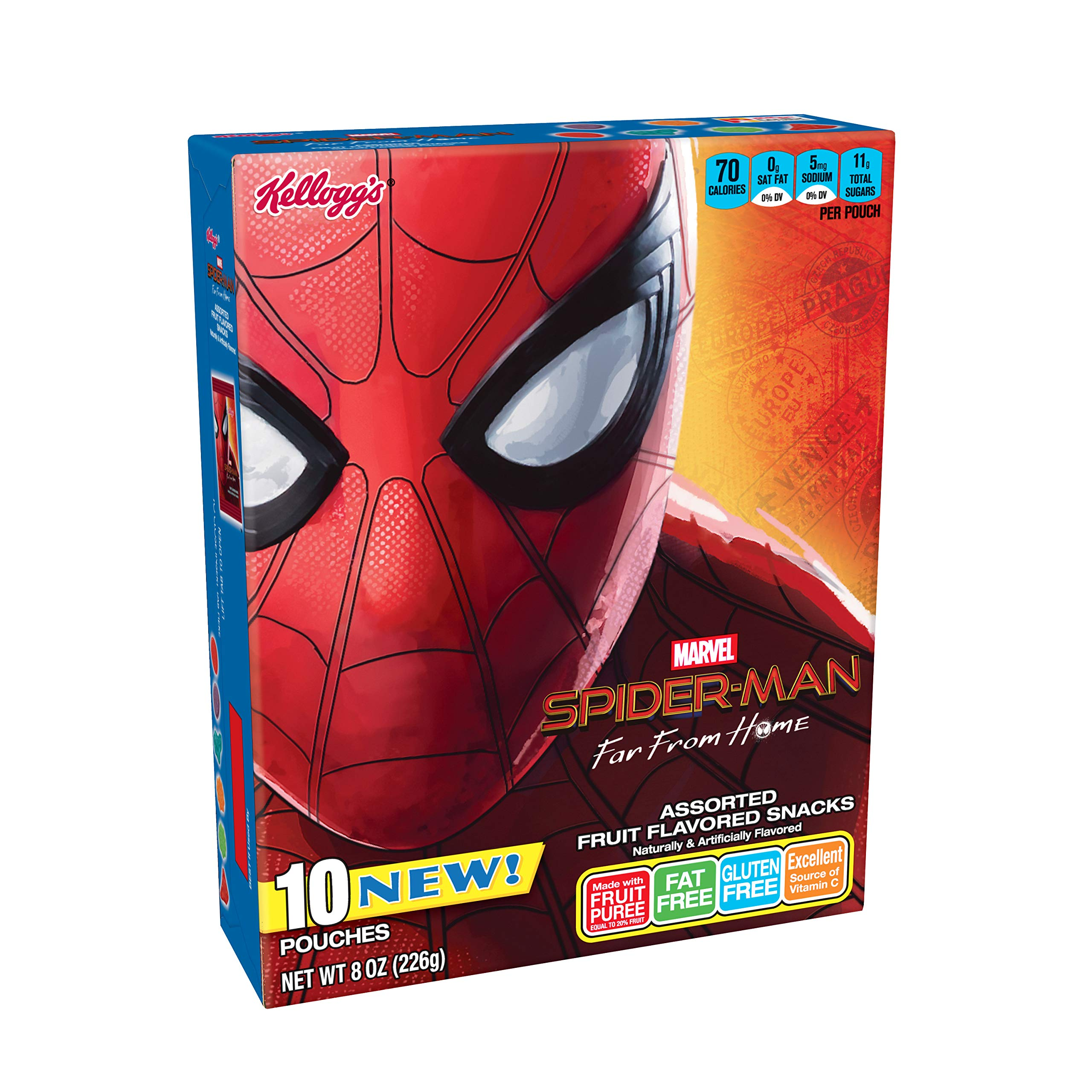 Spiderman, Fruit Flavored Snacks, Assorted Fruit Flavored, Gluten Free, Fat Free, 8 oz