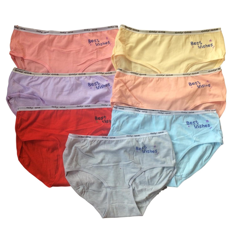 C . & . C adolescente ragazze Intimo 7 Pack colore misto Slip/Mutande