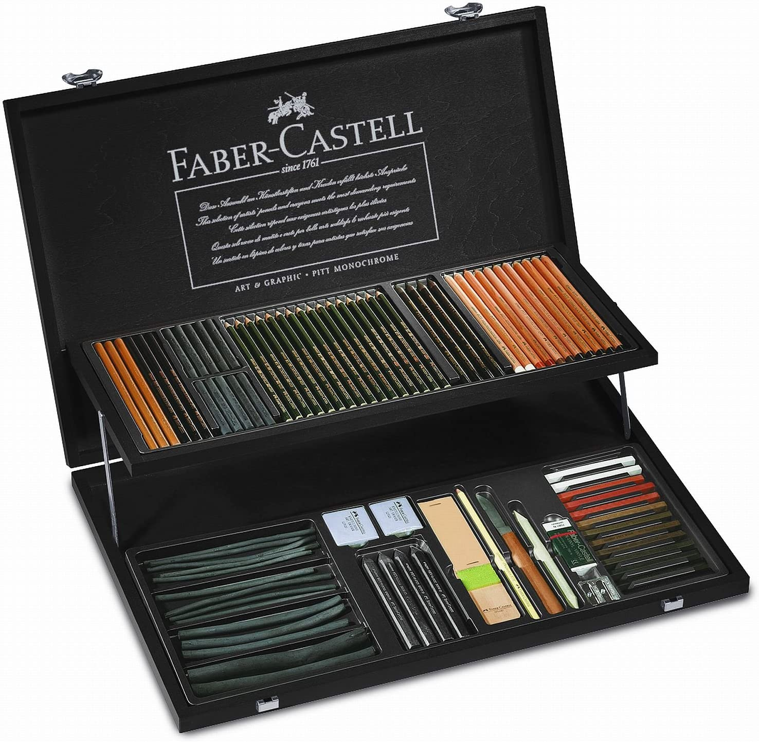 Faber-Castell Pitt Artistas Kit para dibujo profesional: Amazon.es: Oficina y papelería