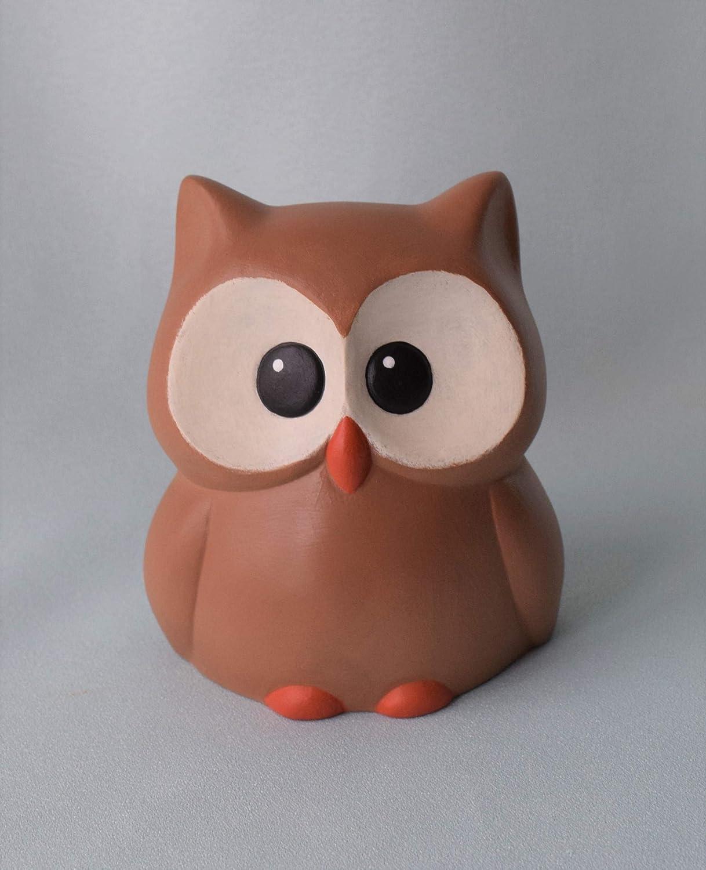 Animals Ceramic Owl Bird  Singer Music Band Instruments Hand painted
