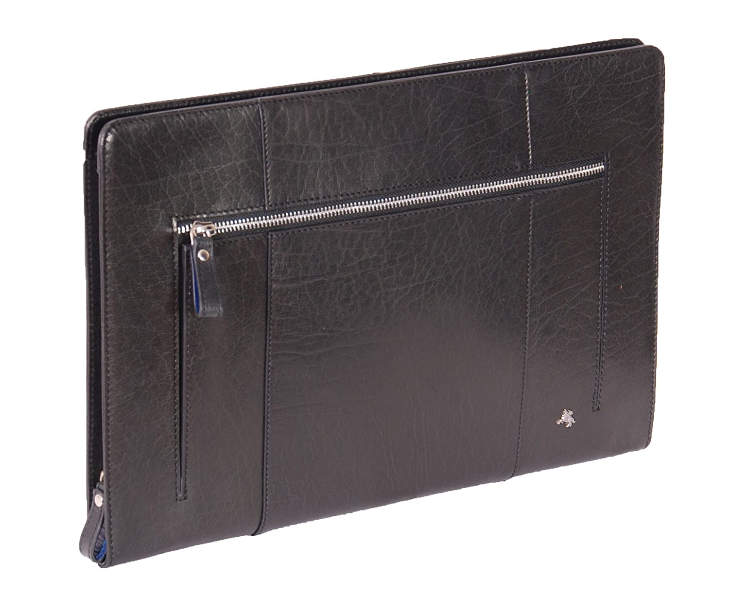 Real Leather A4 Document Folder Folio Conference Zip Folder Tablet Case CRUISE Black CRUISE-BLACK