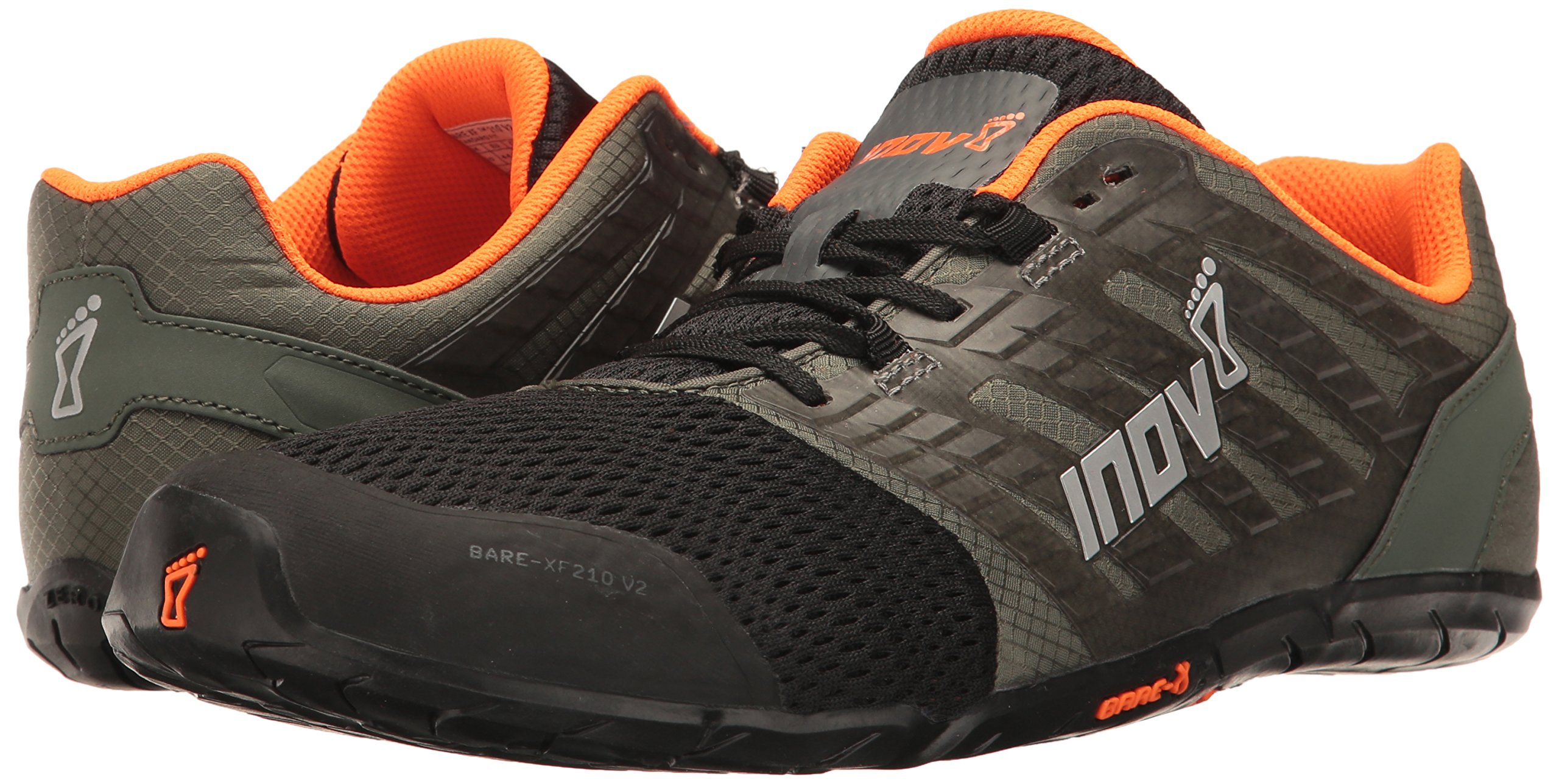 Inov-8 Men's Bare-XF 210 v2 (M) Cross Trainer Grey/Black/Orange 9 D US by Inov-8 (Image #6)
