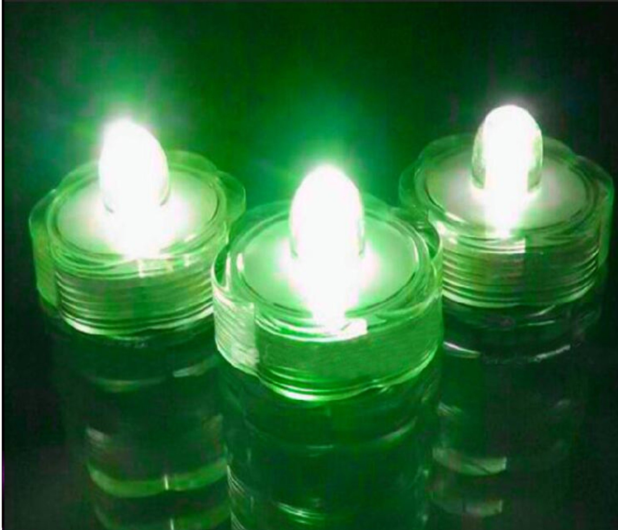 Led Submersible Waterproof candles For Fish Tank Decoration light holiday Xmas Holloween Decoration led light Wedding Floral Decoration Party Tea Light (Set of 108 Green )
