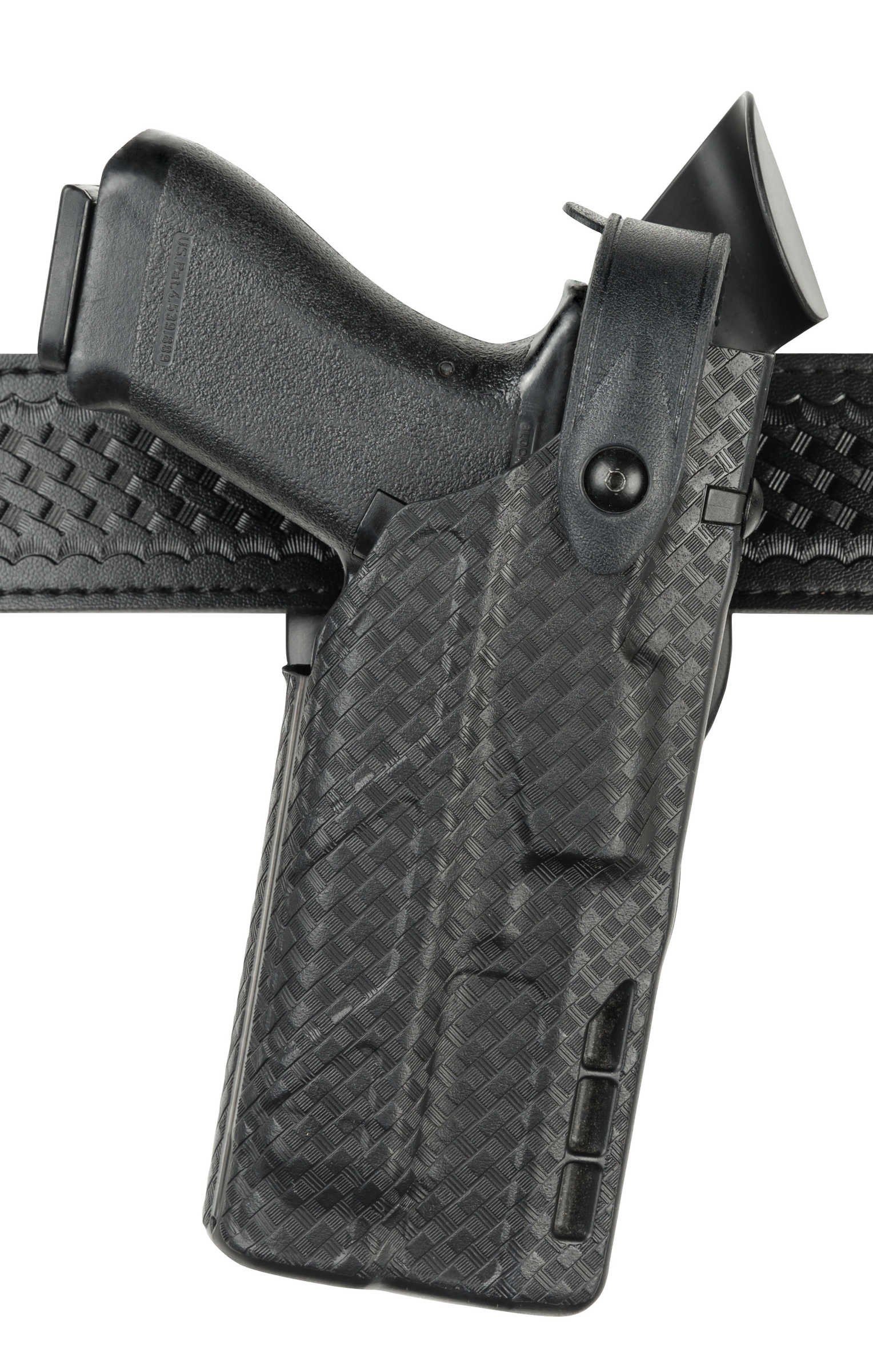 Safariland 7360 7TS ALS/SLS Mid-Ride III Retention Glock 17/22 Duty Holster with ITI Light, Black, Right Hand by Safariland (Image #1)