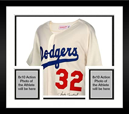 premium selection ade7f 7aba9 Framed Sandy Koufax Brooklyn Dodgers Autographed Mitchell ...