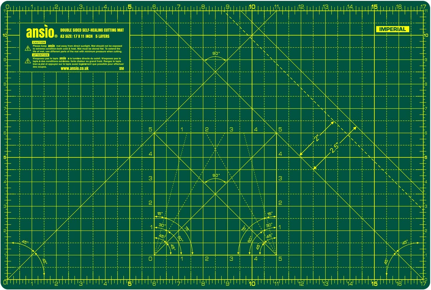 """Sew Easy Premium Quality Double Sided Cutting Mat 12/"""" x 9/"""" and 300 x 200mm"""