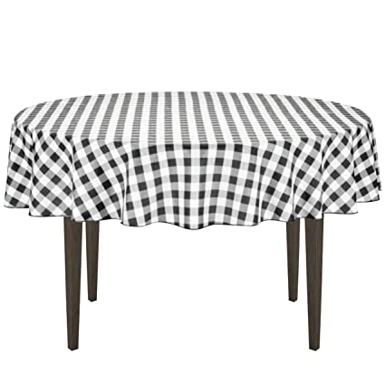 Amazoncom Linentablecloth 70 Inch Round Polyester Tablecloth Black