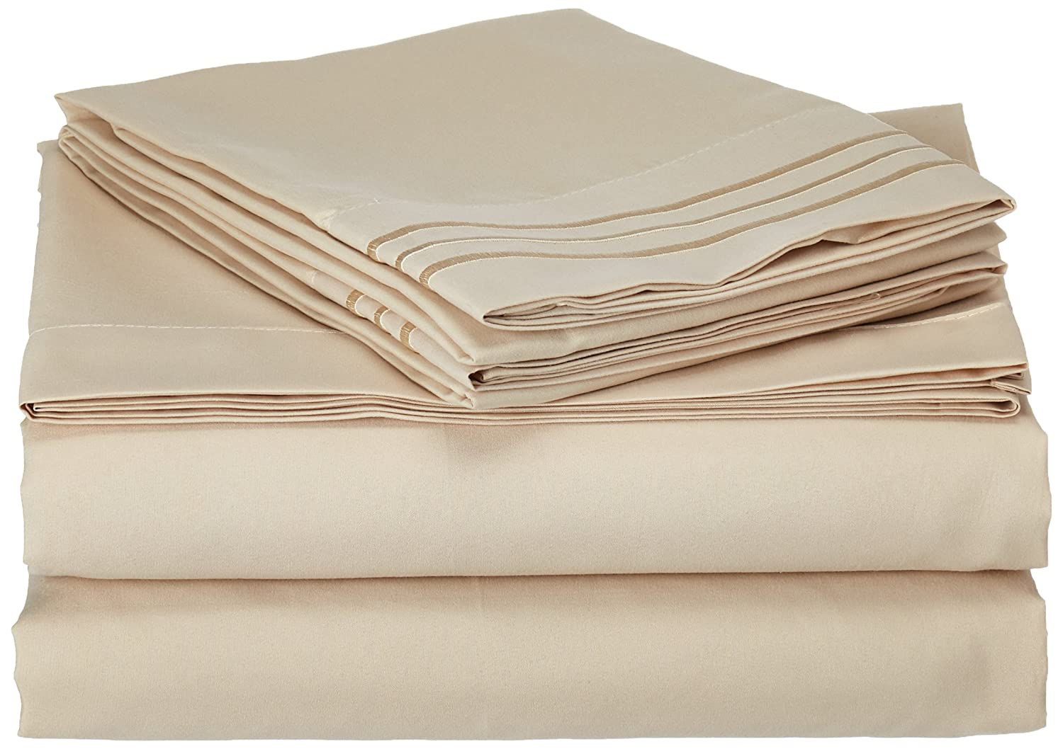 Queen Gray Sweet Home Collection Supreme 1800 Series 4pc Bed Sheet Set Egyptian Quality Deep Pocket