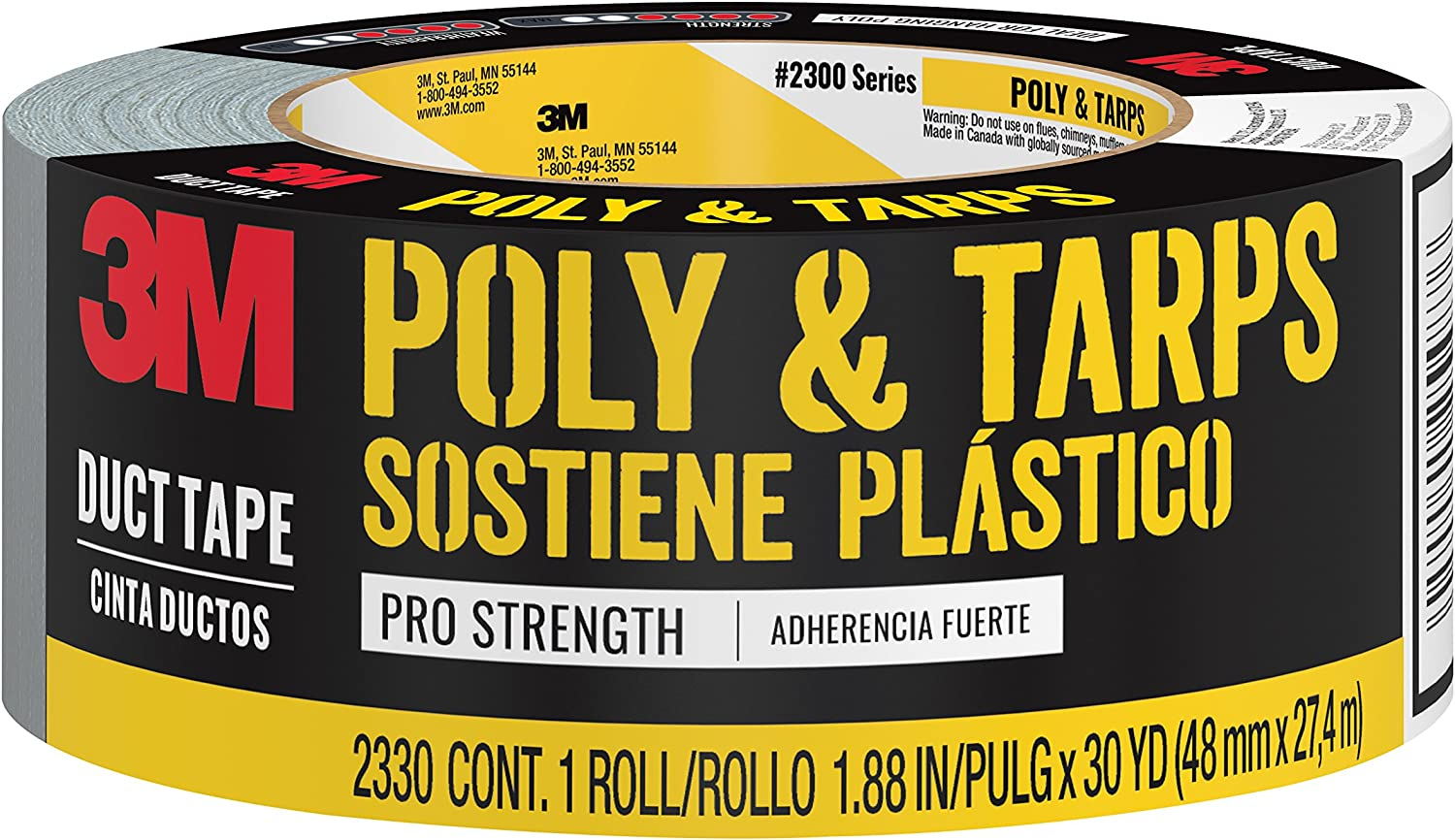 3M Poly & TarpsDuct Tape, 2330, 1.88 Inches by 30 Yards