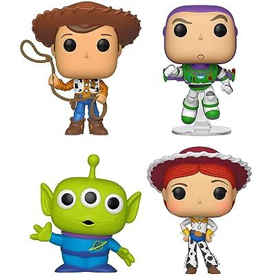 Funko Disney: POP! Toy Story 4 Collectors Set 1 - Woody, Buzz, Alien, Jessie: Toys & Games