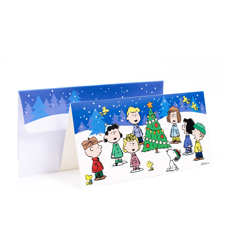 Amazon.com: Hallmark Christmas Boxed Cards, Peanuts Gang (16 Cards ...