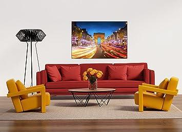 Glasbild Motiv Paris Wohnzimmer Modern querformat Rechteckig ...