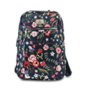 JuJuBe Limited Edition Ballad Backpack Diaper Bag - Midnight Posy
