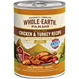 Whole Earth Farms Grain Free and Whole Grain All Breed Canned Wet Dog and Puppy Food (Case of 12)