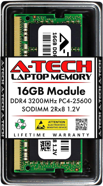 A-Tech 16GB Replacement for Samsung M471A2K43DB1-CWE - DDR4 PC4-25600 3200MHz Non ECC SO-DIMM - Single Laptop Memory RAM Stick (M471A2K43DB1-CWE-ATC)