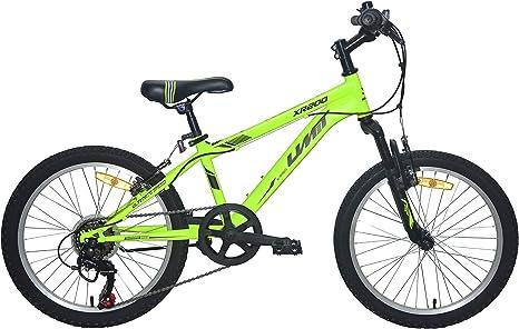 Umit 20 Bicicleta Pulgadas XR-200, Partir de 6 años, con Cambio y Suspension Delantera, Unisex niños, Verde: Amazon.es: Deportes y aire libre