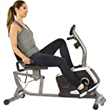 Sunny Health & Fitness Magnetic Recumbent Exercise Bike, Pulse Rate Monitoring, 300 lb Capacity, Digital Monitor and…