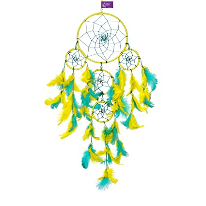 06b84119e0533 Buy Asian Hobby Crafts Dream Catcher Wall Hanging : Size (Lxb) 55X15 Cm :  'Minion' Online at Low Prices in India - Amazon.in