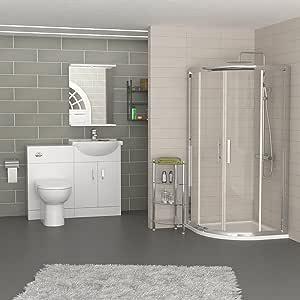 Royal Bathrooms - Mueble de ducha cuadrante moderno con bandeja de ...